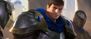 Die Figur Garen aus League of Legends.