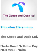 Unser offizielles logo von The Goose and Duck Limited
