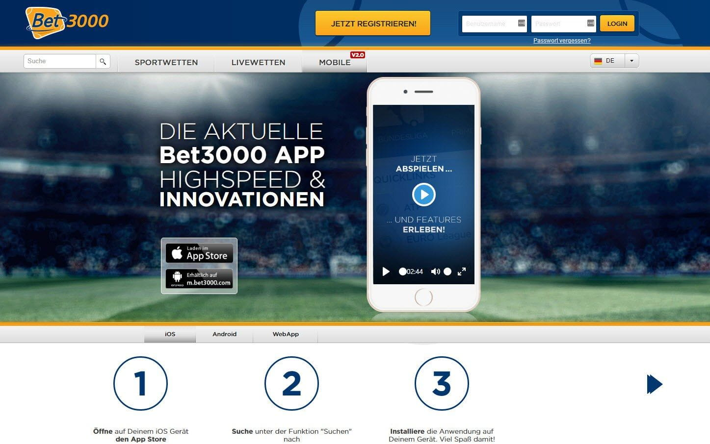 Bet3000 Wettprogramm Download